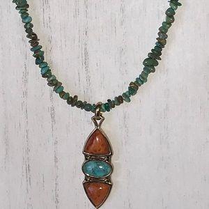 Barse turquoise pendant necklace
